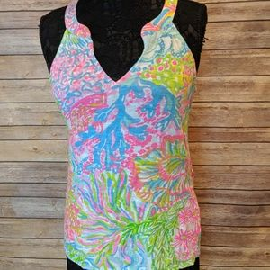 Lilly Pulitzer Coral Print Multicolor Tank Top - M